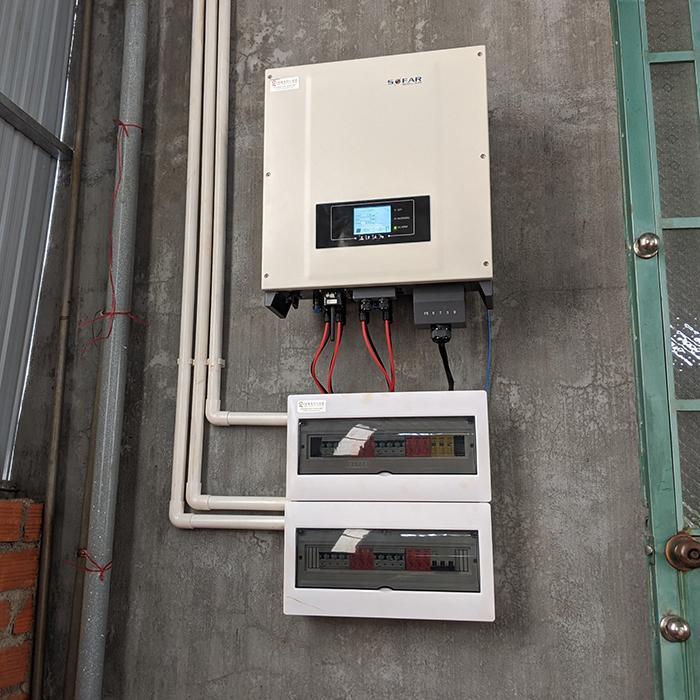 Thi công dự án điện năng lượng mặt trời hòa lưới 28KWP ở Gia Lai 17