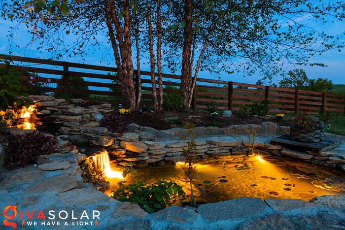 ý tưởng trang trí cảnh quan sân vườn thêm ấn tượng với đèn 7