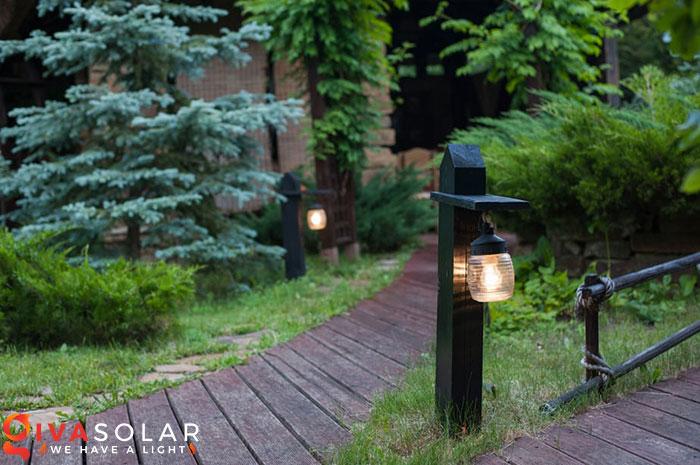 ý tưởng trang trí cảnh quan sân vườn thêm ấn tượng với đèn 9