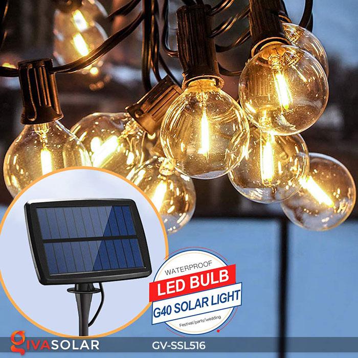 Dây đèn LED chiếu sáng năng lượng mặt trời G40 1