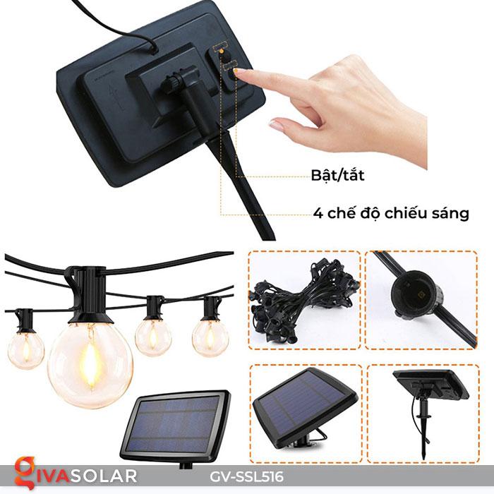 Dây đèn LED chiếu sáng năng lượng mặt trời G40 13