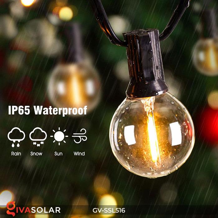 Dây đèn LED chiếu sáng năng lượng mặt trời G40 14