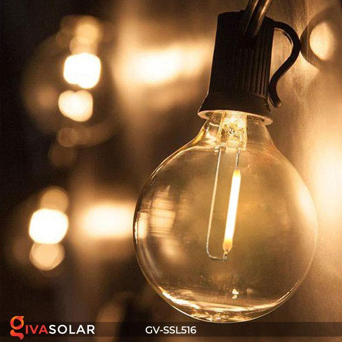 Dây đèn LED chiếu sáng năng lượng mặt trời G40 16