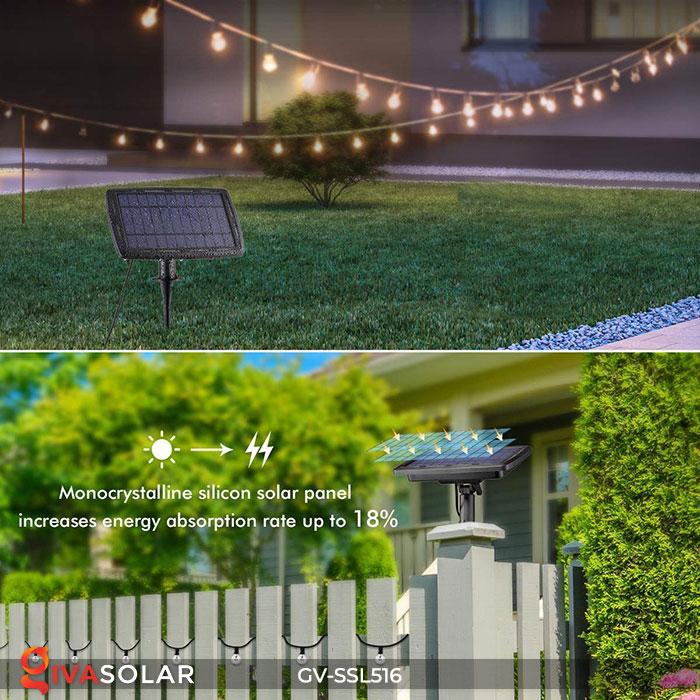 Dây đèn LED chiếu sáng năng lượng mặt trời G40 19