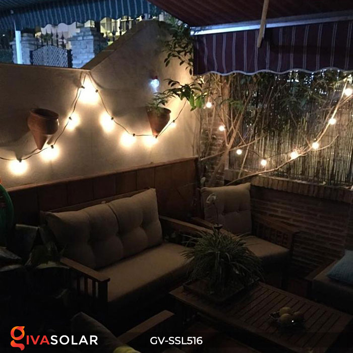 Dây đèn LED chiếu sáng năng lượng mặt trời G40 20