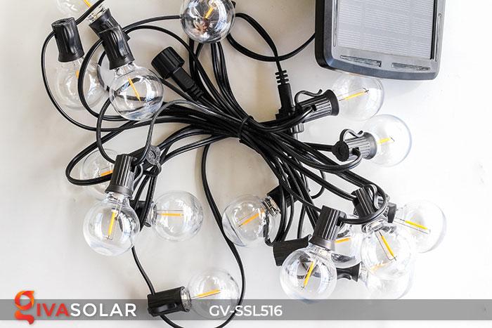 Dây đèn LED chiếu sáng năng lượng mặt trời G40 23