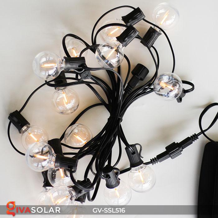 Dây đèn LED chiếu sáng năng lượng mặt trời G40 24