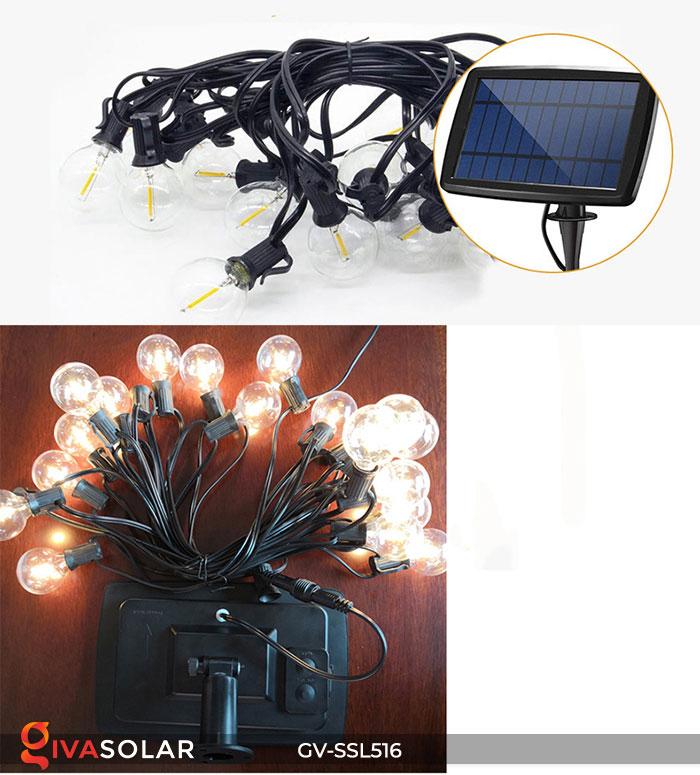 Dây đèn LED chiếu sáng năng lượng mặt trời G40 4