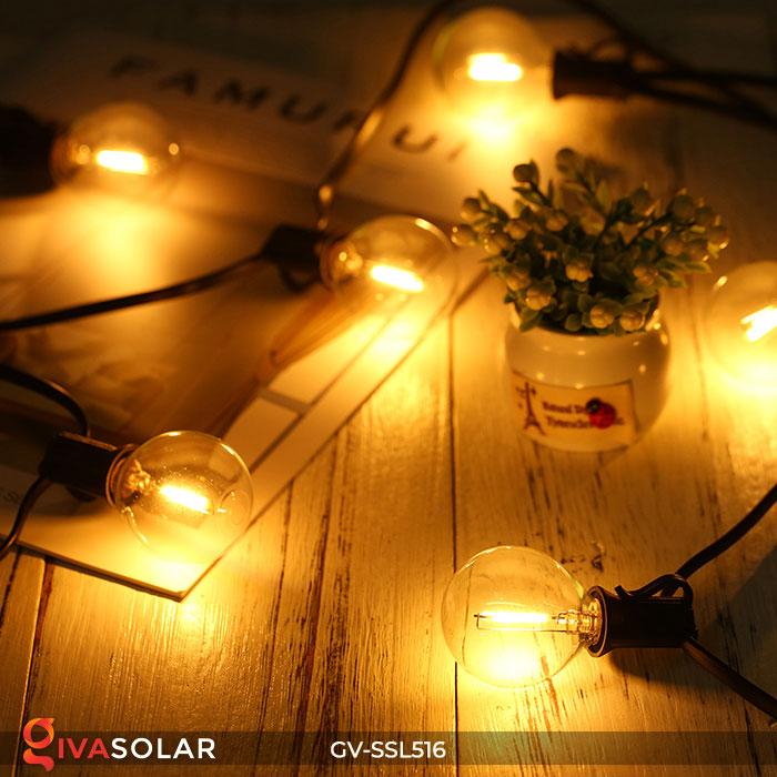 Dây đèn LED chiếu sáng năng lượng mặt trời G40 5