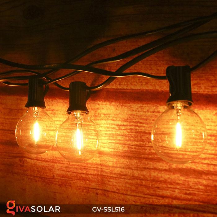 Dây đèn LED chiếu sáng năng lượng mặt trời G40 6