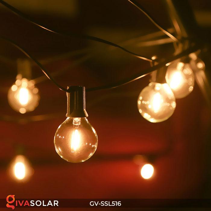 Dây đèn LED chiếu sáng năng lượng mặt trời G40 7