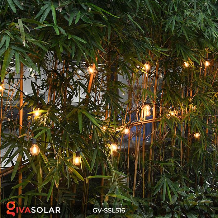 Dây đèn LED chiếu sáng năng lượng mặt trời G40 8