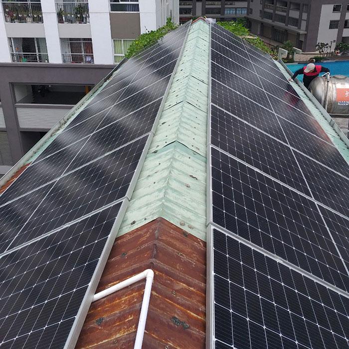 Dự án điện năng lượng mặt trời áp mái 9KW cho anh Hưng ở Tân Phú 2