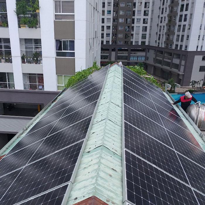 Dự án điện năng lượng mặt trời áp mái 9KW cho anh Hưng ở Tân Phú 3