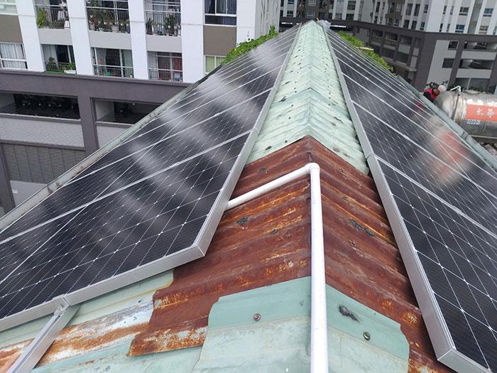 Dự án điện năng lượng mặt trời áp mái 9KW cho anh Hưng ở Tân Phú 4