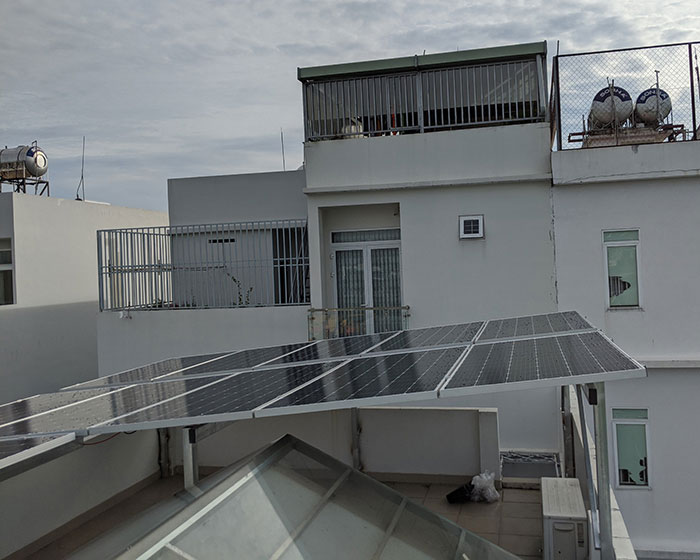 Dự án điện mặt trời hòa lưới áp mái 5KWP Chị Quỳnh ở Quận 9 4