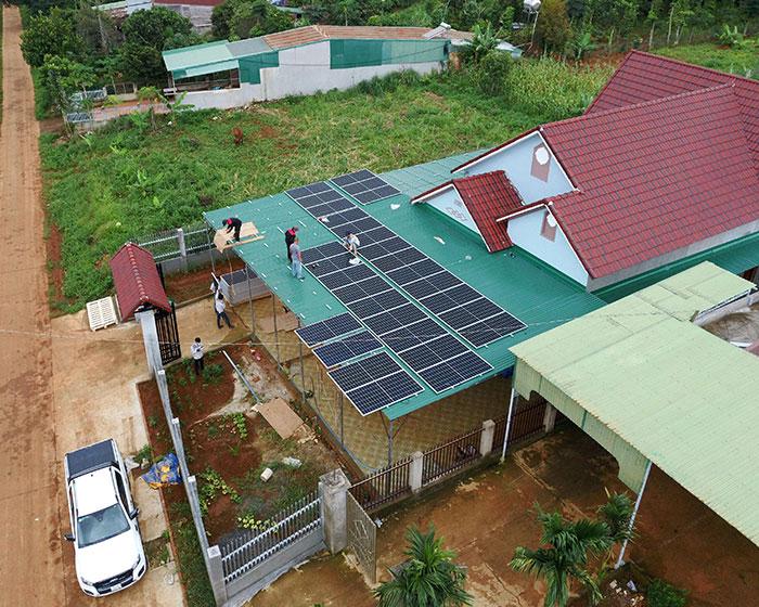 điện năng lượng mặt trời hòa lưới 45KW cho anh Cừ ở Đắk Nông 10