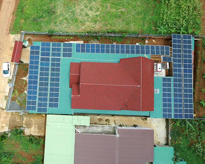điện năng lượng mặt trời hòa lưới 45KW cho anh Cừ ở Đắk Nông 11