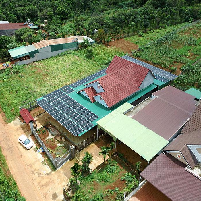 điện năng lượng mặt trời hòa lưới 45KW cho anh Cừ ở Đắk Nông 12