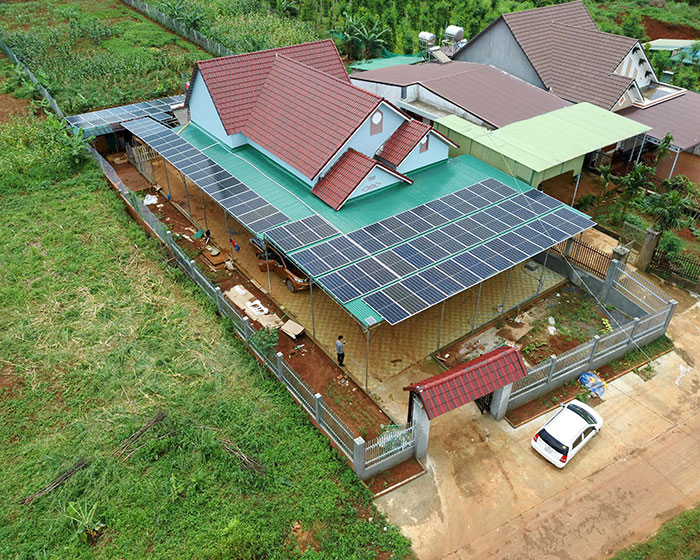 điện năng lượng mặt trời hòa lưới 45KW cho anh Cừ ở Đắk Nông 13