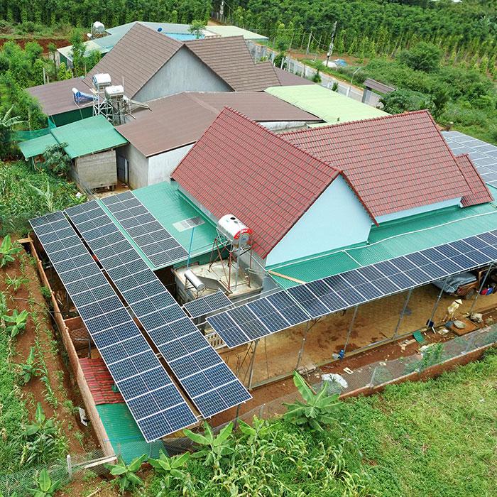 điện năng lượng mặt trời hòa lưới 45KW cho anh Cừ ở Đắk Nông 14