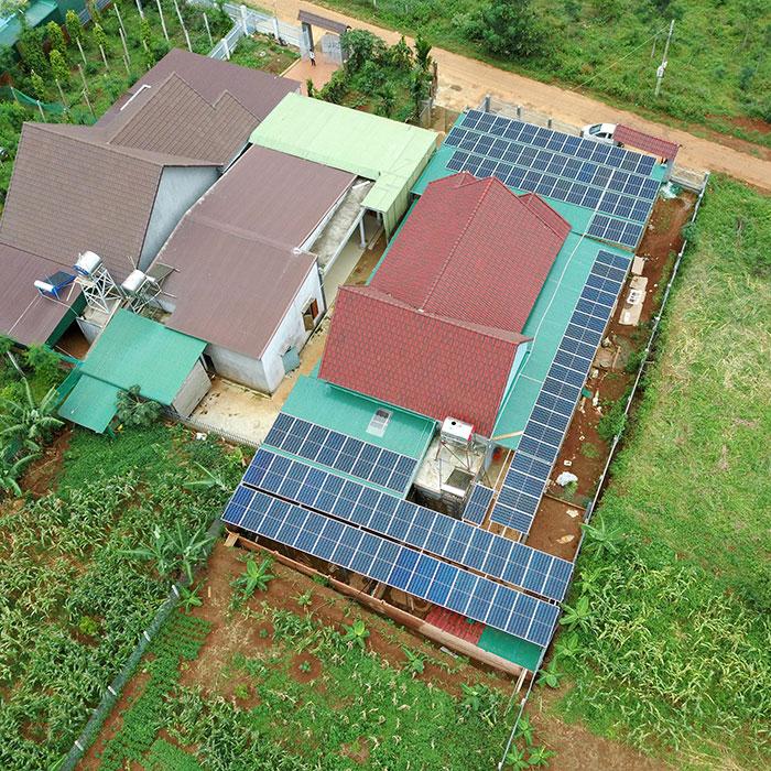điện năng lượng mặt trời hòa lưới 45KW cho anh Cừ ở Đắk Nông 15