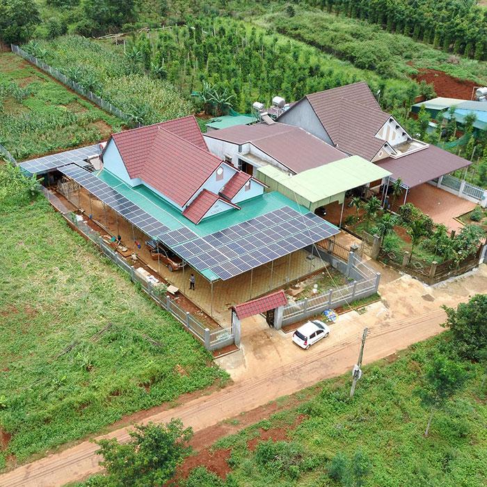 điện năng lượng mặt trời hòa lưới 45KW cho anh Cừ ở Đắk Nông 16