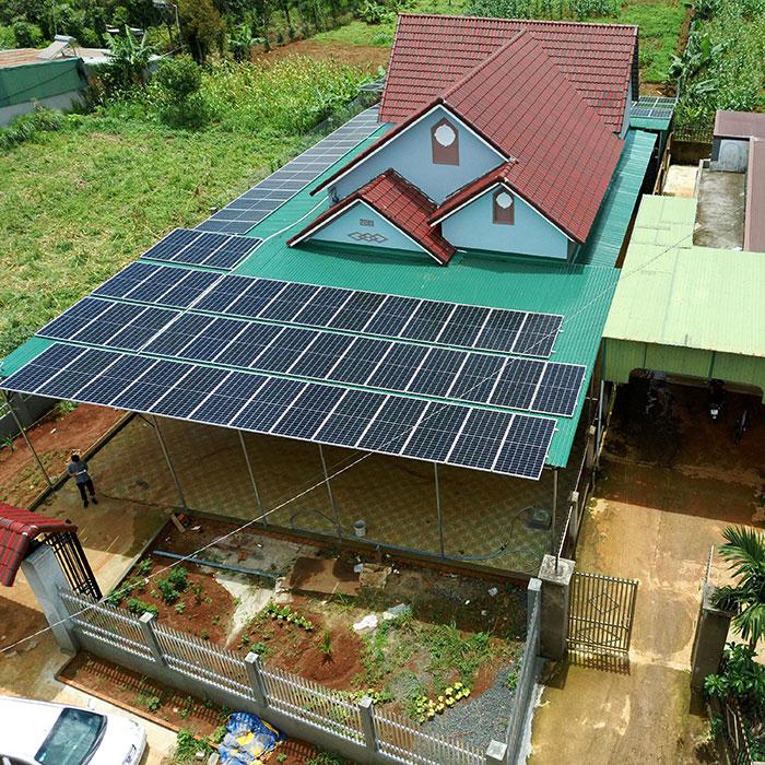 điện năng lượng mặt trời hòa lưới 45KW cho anh Cừ ở Đắk Nông 17