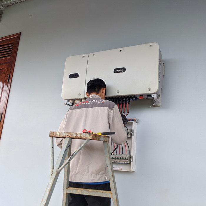 điện năng lượng mặt trời hòa lưới 45KW cho anh Cừ ở Đắk Nông 18
