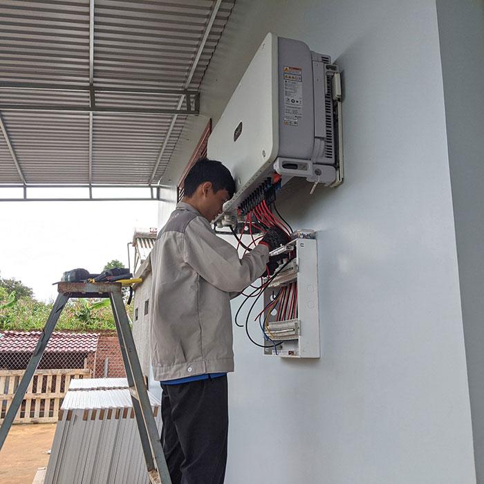 điện năng lượng mặt trời hòa lưới 45KW cho anh Cừ ở Đắk Nông 19