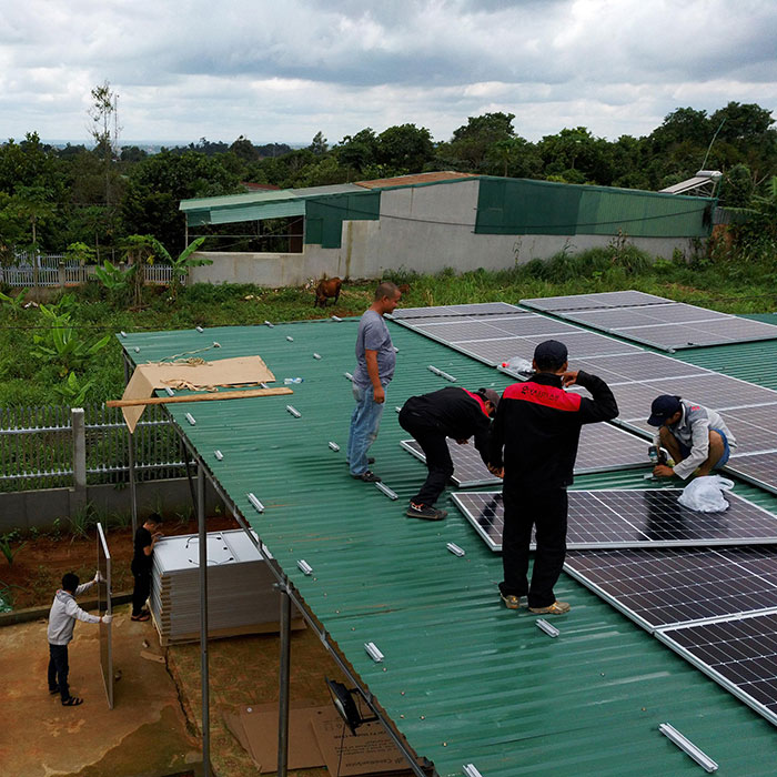 điện năng lượng mặt trời hòa lưới 45KW cho anh Cừ ở Đắk Nông 4