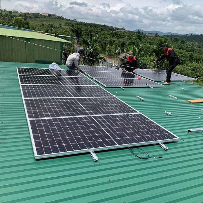 điện năng lượng mặt trời hòa lưới 45KW cho anh Cừ ở Đắk Nông 5