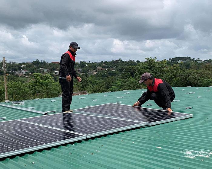 điện năng lượng mặt trời hòa lưới 45KW cho anh Cừ ở Đắk Nông 6