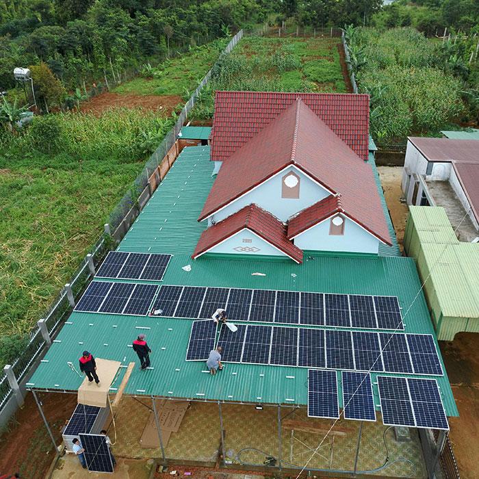 điện năng lượng mặt trời hòa lưới 45KW cho anh Cừ ở Đắk Nông 9