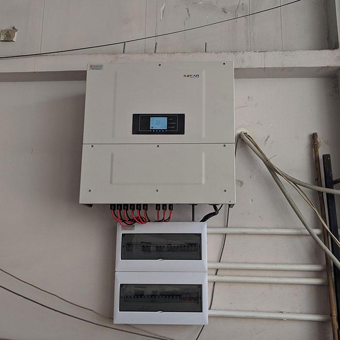 Lắp đặt điện mặt trời hòa lưới 57KWp để kinh doanh nhà trọ ở Tân Phú 11