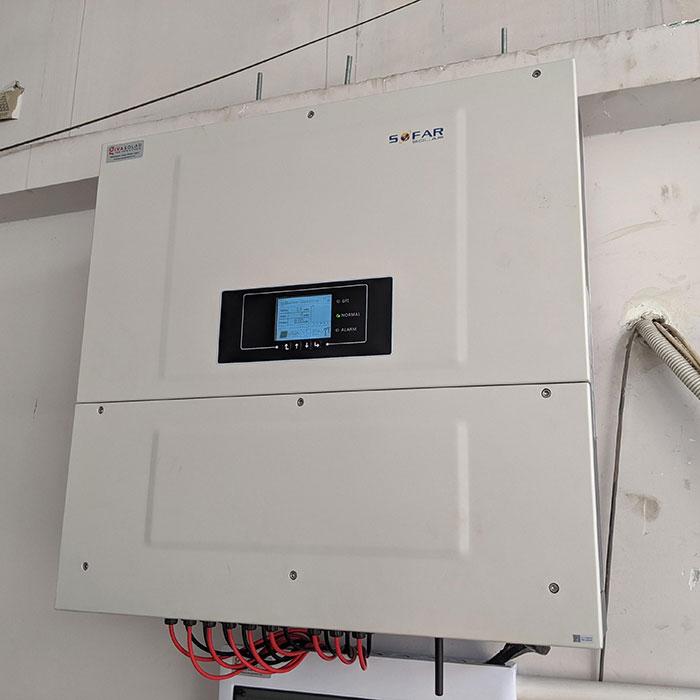 Lắp đặt điện mặt trời hòa lưới 57KWp để kinh doanh nhà trọ ở Tân Phú 12