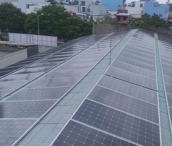 Lắp đặt điện mặt trời hòa lưới 57KWp để kinh doanh nhà trọ ở Tân Phú 2