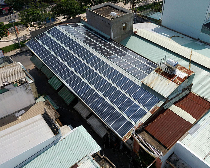 Lắp đặt điện mặt trời hòa lưới 57KWp để kinh doanh nhà trọ ở Tân Phú 7