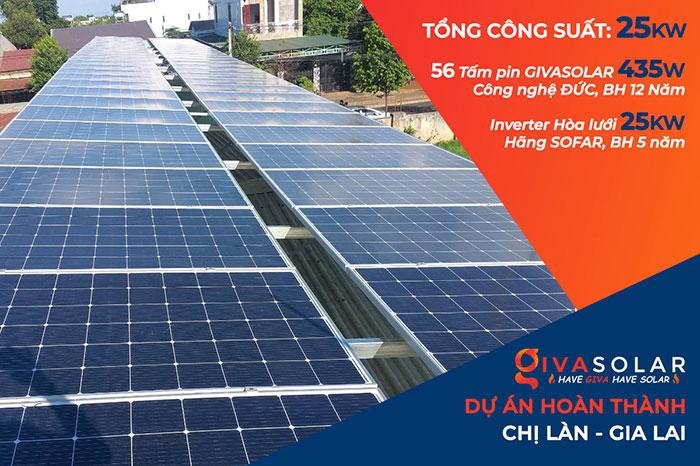 Lắp đặt hệ thống điện năng lượng mặt trời 25KW ở Gia Lai