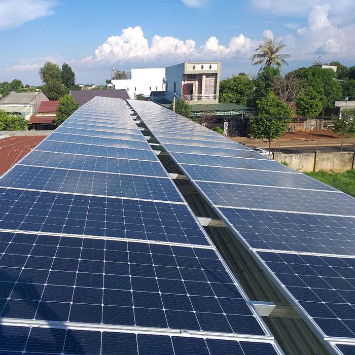 Lắp đặt hệ thống điện năng lượng mặt trời 25KW ở Gia Lai 2