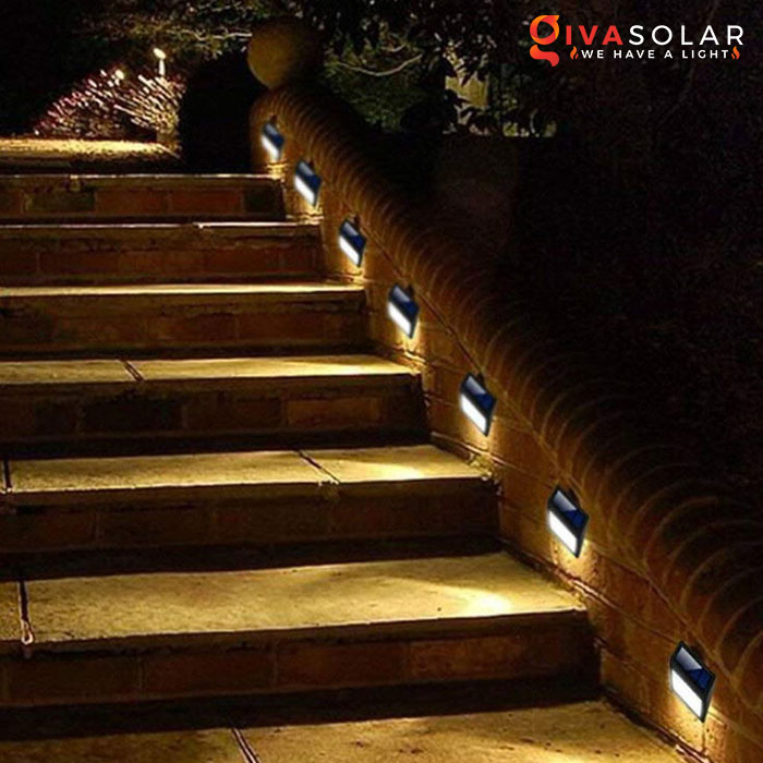 ý tưởng chiếu sáng và trang trí cầu thang với đèn năng lượng mặt trời 2