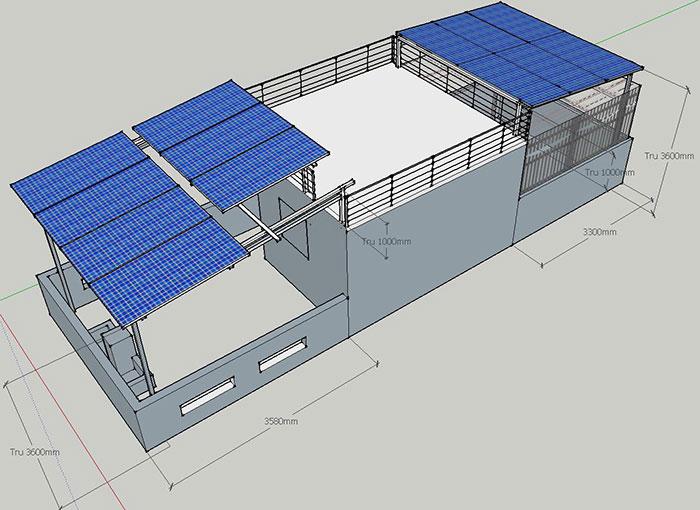 hệ thống điện mặt trời hòa lưới 5KW cho anh Minh ở Tân Bình 9