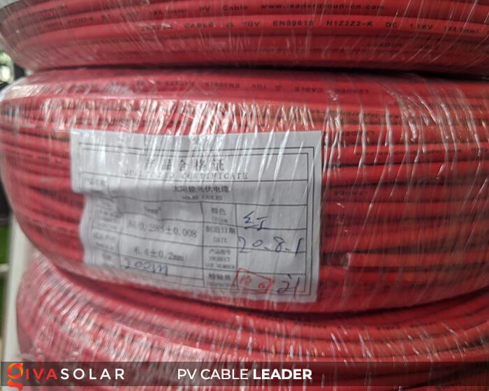 Dây cáp điện năng lượng mặt trời Leader 4mm2 6mm2 5
