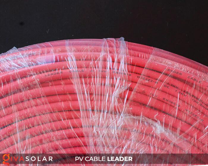 Dây cáp điện năng lượng mặt trời Leader 4mm2 6mm2 7