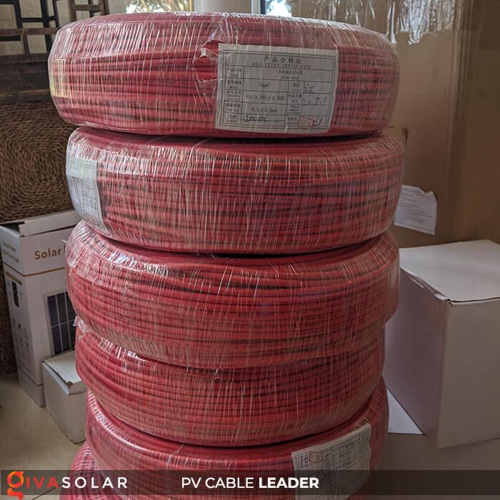 Dây cáp điện năng lượng mặt trời Leader 4mm2 6mm2 9