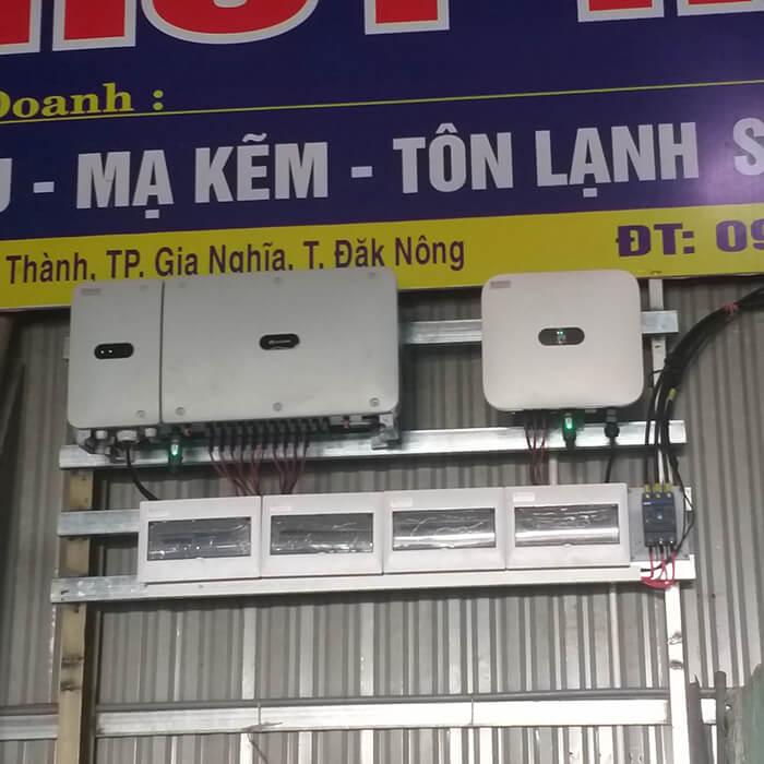 Dự án điện mặt trời hòa lưới 90KW cho gia đình anh Chiến ở Đắk Nông 9