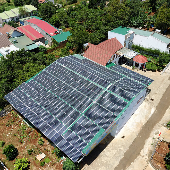 Dự án điện năng lượng mặt trời hòa lưới 130KW cho anh Long ở Đắk Nông 13