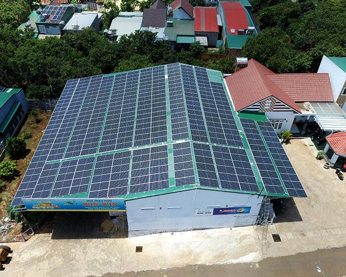 Dự án điện năng lượng mặt trời hòa lưới 130KW cho anh Long ở Đắk Nông 14
