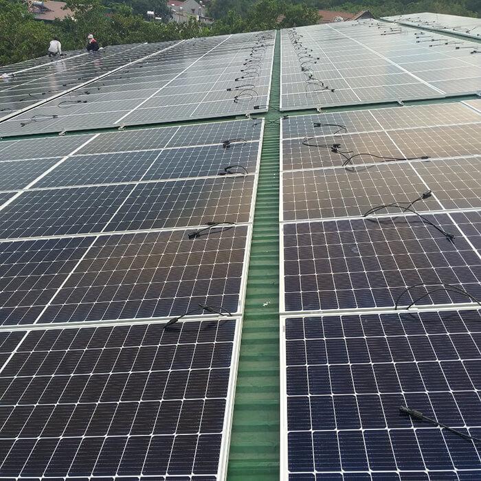 Dự án điện năng lượng mặt trời hòa lưới 130KW cho anh Long ở Đắk Nông 2