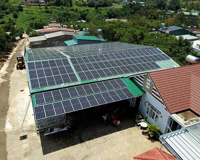 Dự án điện năng lượng mặt trời hòa lưới 130KW cho anh Long ở Đắk Nông 7
